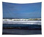 Wild Surf At Seaside Beach Tapestry