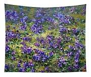 Wild Violets  Tapestry