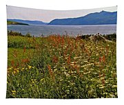 Wildflowers At Lobster Cove Head In Gros Morne Np-nl Tapestry