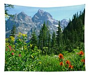 1m9372-v-wildflowers In Cascade Canyon, Tetons Tapestry