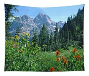 1m9371-h-wildflowers In Cascade Canyon, Tetons Tapestry