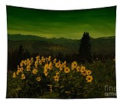 Wildflowers In The Beartooth Mountains Tapestry