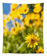 Wildflowers Standing Out Abstract Tapestry