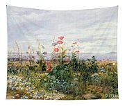 Wildflowers With A View Of Dublin Dunleary Tapestry