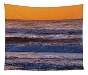 Wildwood Beach Golden Sky Tapestry