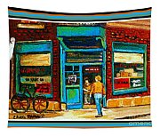 Wilenskys Art Famous Blue Door Posters Prints Cards Originals Commission Montreal Painting Cspandau  Tapestry