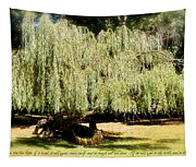 Willow Tree With Job Verse Tapestry