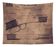 Winchester Rifle Patent Tapestry