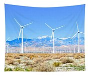 Wind Farm Palm Springs Tapestry