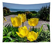 Wind Point Tulips Tapestry