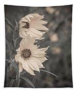 Windblown Wild Sunflowers Tapestry