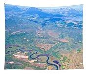 Winding River From The Seaplane In Katmai National Preserve-alaska Tapestry