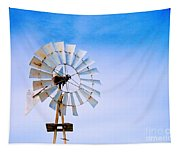Windmill In Winter Tapestry