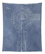 Windmill Patent Tapestry