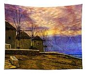 Windmills In Mykonos Tapestry