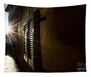 Window In An Alley With Sunlight Tapestry