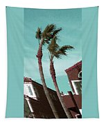 Windy Day By The Ocean  Tapestry