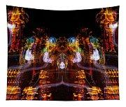 Windy Night Mirror Image Tapestry