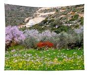 Windy Spring Day Tapestry