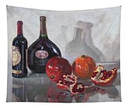 Wine And Pomegranates Tapestry