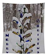 Wine Bottle Sculpture Christmas Card Tapestry