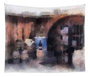 Wine Cellar Photo Art Tapestry