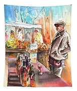 Wine Vendor In A Provence Market Tapestry