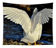 Wings Of A White Duck Tapestry