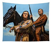 Winnetou And Old Shatterhand Tapestry