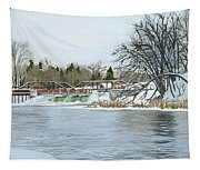 Winter At Phelps Mill Tapestry