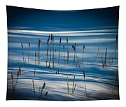 Winter Cattails Tapestry