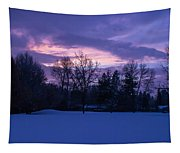 Winter Evening In Grants Pass Tapestry