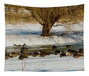 Winter Geese - 01 Tapestry