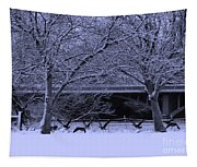 Winter Geese Retreat Tapestry