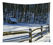 Winter Hut Tapestry