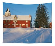 Winter In New England, Mountain View Tapestry