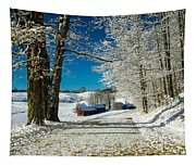 Winter In Vermont Tapestry