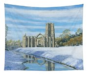Winter Morning Fountains Abbey Yorkshire Tapestry