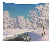 Winter Morning In Engadine Tapestry