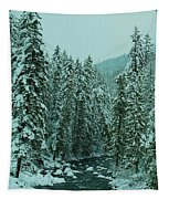 Winter On The American River Tapestry