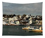 Winter On The Coast Tapestry