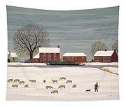 Winter Scene In Lincolnshire Tapestry