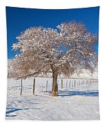 Winter Season On The Plains Portrait Tapestry