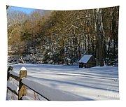 Winter Shack Tapestry