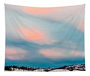 Winter Sky Over Lake Laberge Tapestry