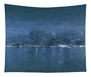 Winter Skyline Tapestry