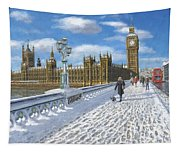 Winter Sun - Houses Of Parliament London Tapestry