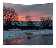 Winter Sunrise Tapestry