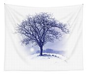 Winter Tree On Hill  Tapestry