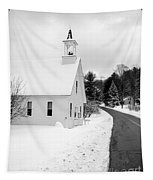 Winter Vermont Church Tapestry